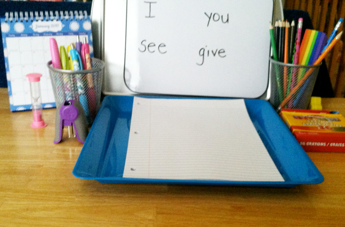 inexpensive writing center preschool