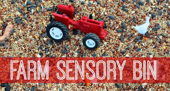 Farm Sensory Bin and I Spy Activity
