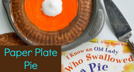 paper plate pie preschool
