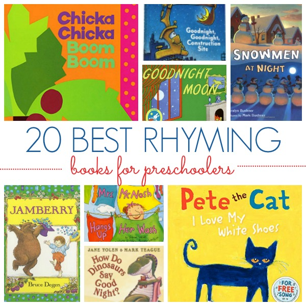 20 Rhyming Picture Books For Preschool Kids