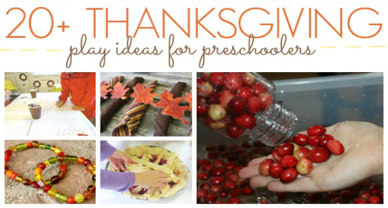 20+ Thanksgiving Ideas for Preschoolers