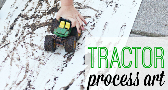 Tractor Mud Painting Process Art Project
