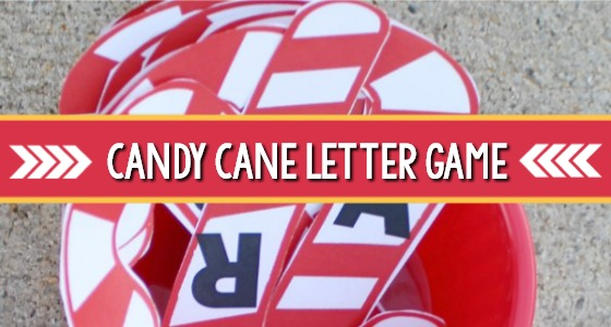 Letter Recognition Candy Cane Game