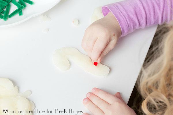 holiday play dough pre-K