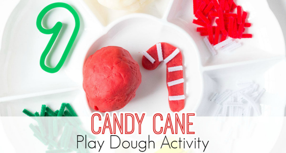 Candy Cane Play Dough Activity