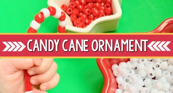 Easy Candy Cane Ornament for Preschool