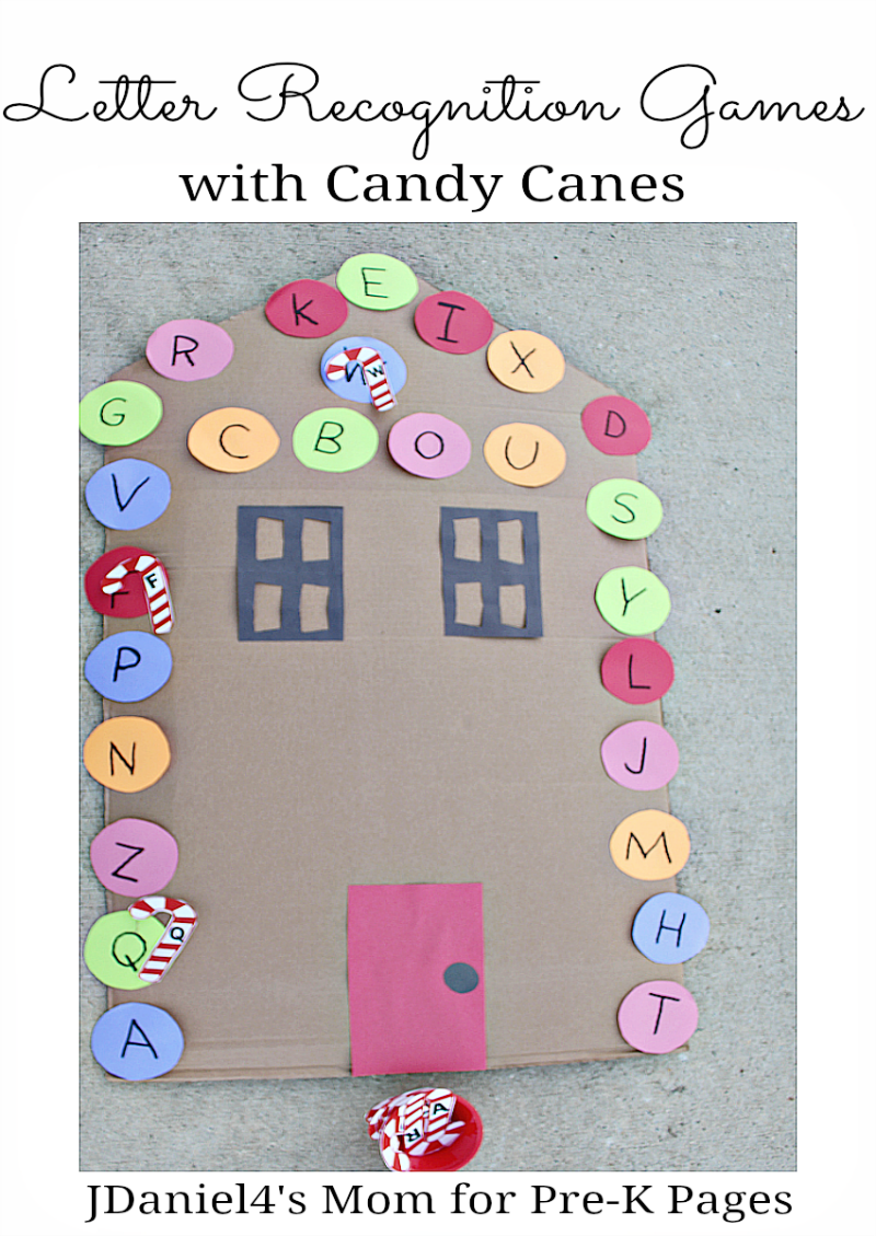 letter recognition games with candy canes