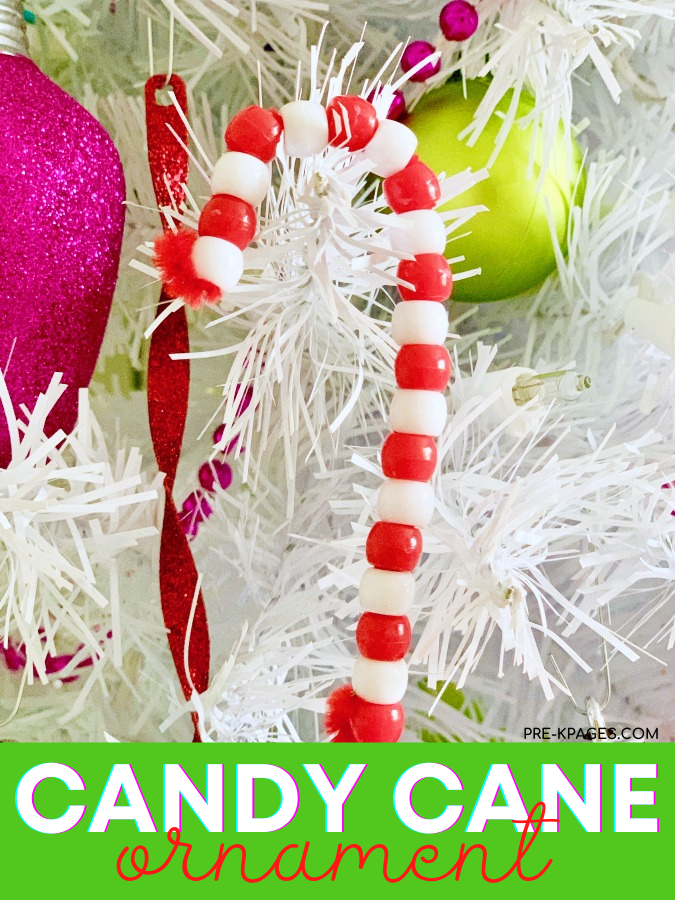 Pipe Cleaner Candy Cane Ornament