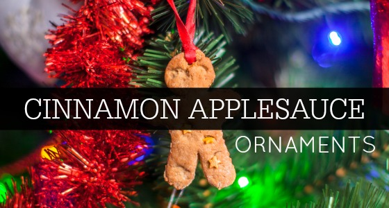 No Cook Cinnamon Applesauce Ornaments