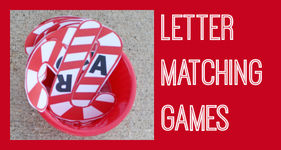 Candy Cane Letter Recognition Games