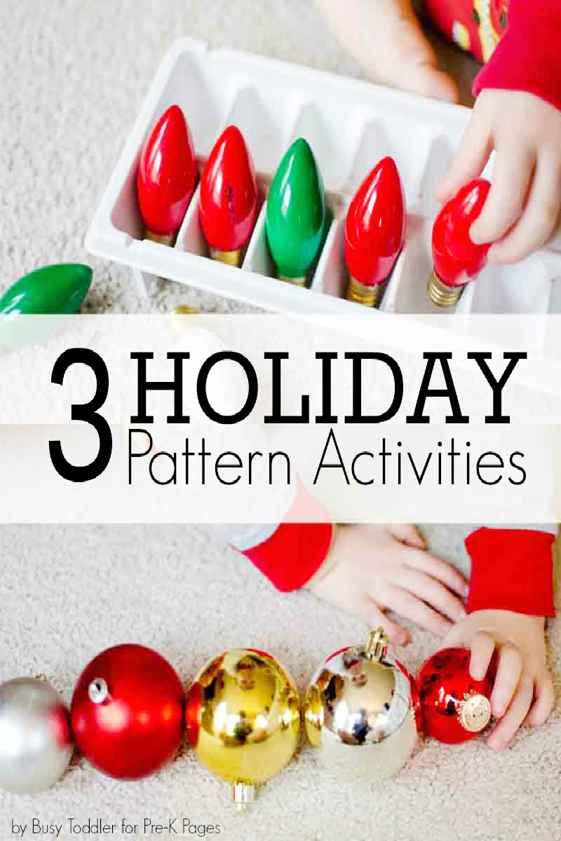 holiday pattern activities for kids