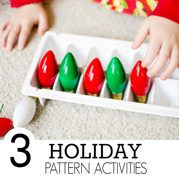 holiday pattern activities for pre-k
