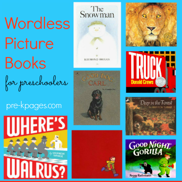 wordless picture books pre-K