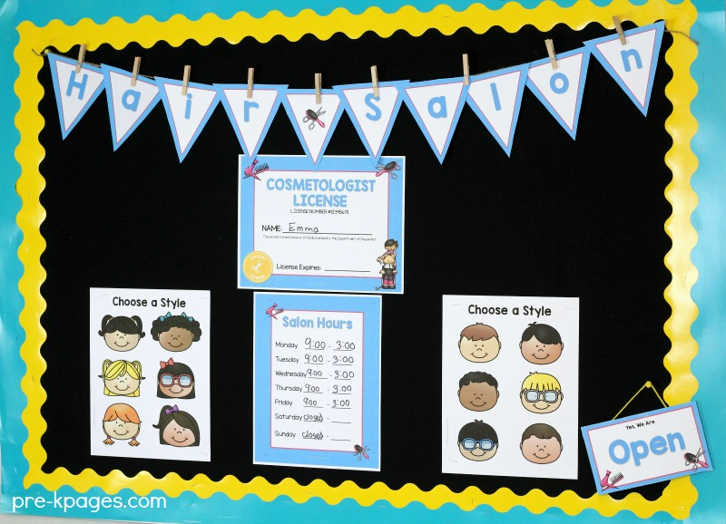 Dramatic Play Hair Salon Printables
