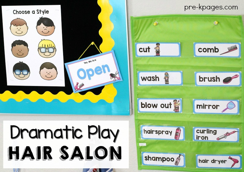 Hair Salon Pretend Play Printables