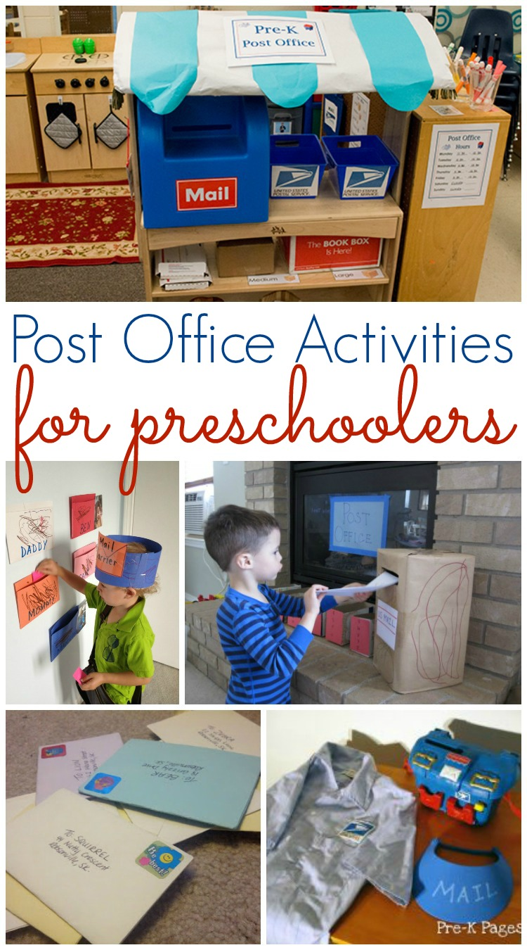 Post Office and Mailing Activities for Preschool - Pre-K Pages