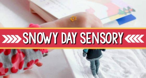 Snowy Day Sensory Bin