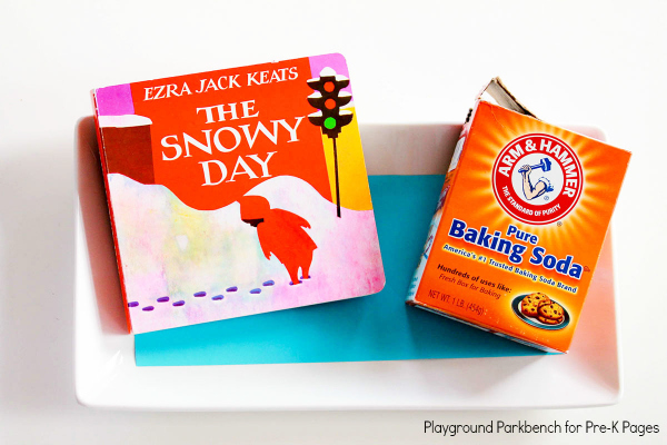 Snowy Day Sensory Writing Tray pre-k