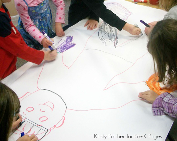 drawing winter clothing pre-k