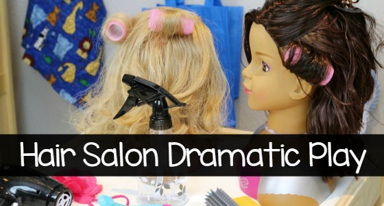 Hair Salon Dramatic Play Props for Preschool