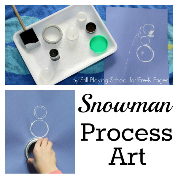 snowman circle painting pre-k