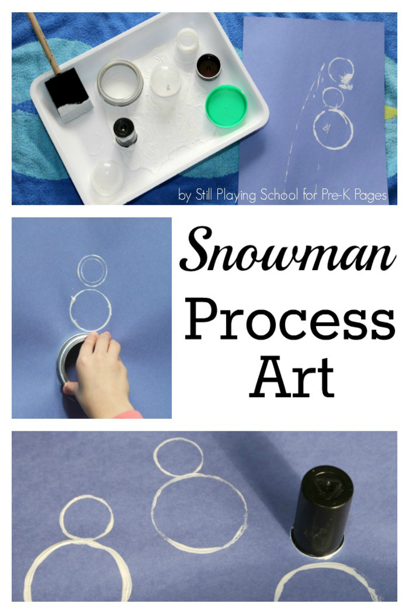 snowman process art for preschool