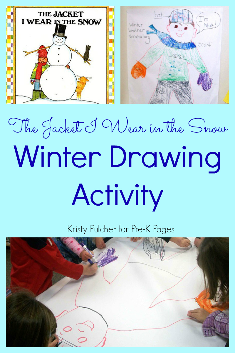winter drawing activity for preschool