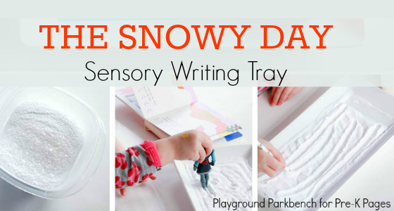 winter snow sensory tray
