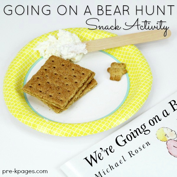 Bear Hunt Snack Graham crackers on plate