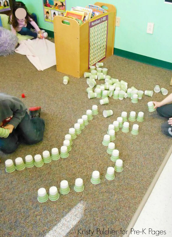 Celebrating 100th Day of School with Cups