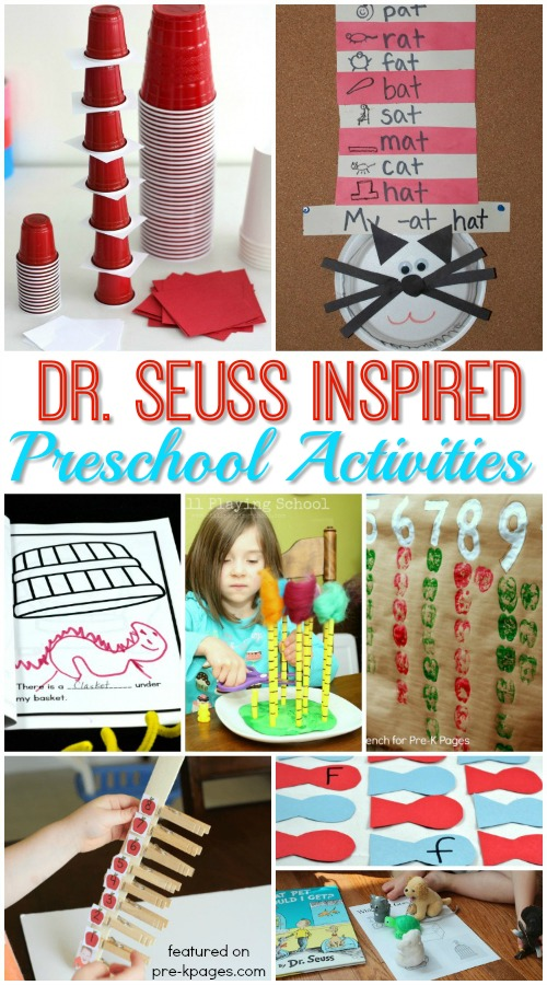 Dr Seuss Activities For Preschoolers Pre K Pages