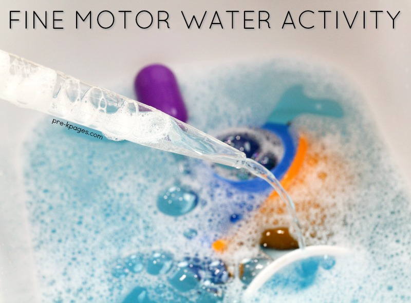Fine Motor Water Activity in Preschool