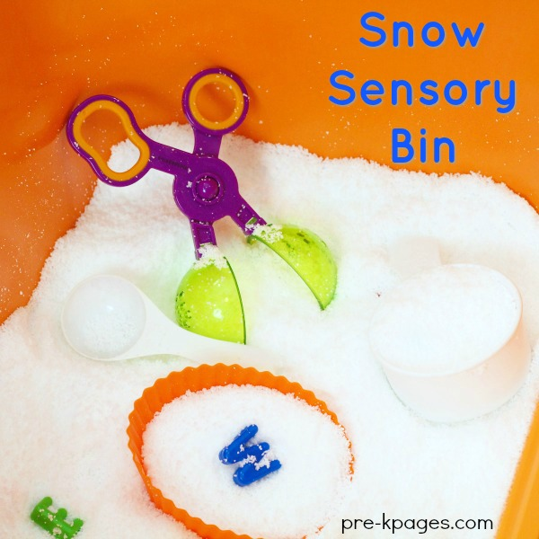 Instant Snow for Sensory Play