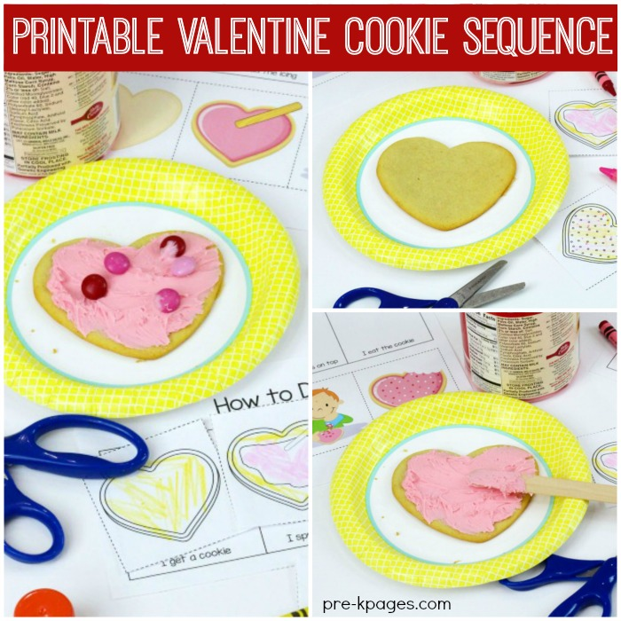 Printable Valentine Cookie Sequence