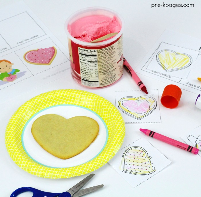 How to Decorate Cookies Step 1 Printable for Preschool and Kindergarten
