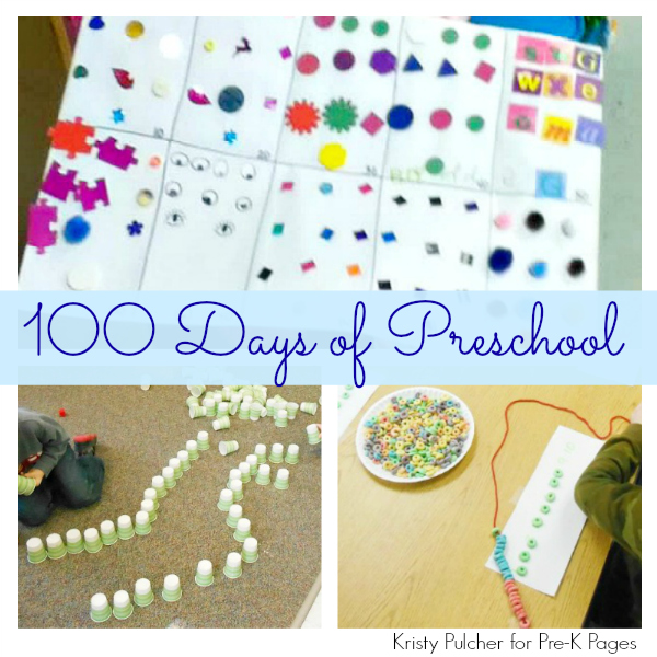 Celebrating 100 Days Of Preschool Pre K Pages
