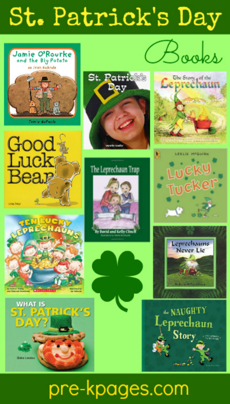 st patricks day books for preschool