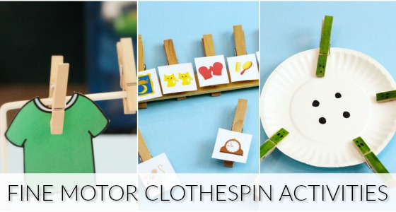 Clothespin Activities for Fine Motor Development