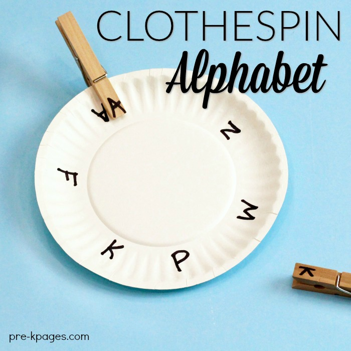 Clothespin Alphabet Letter Clip Paper Plates
