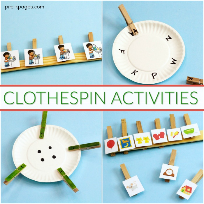How to Use Clothespins for Learning in Preschool