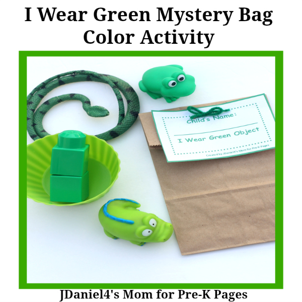 One Color Mystery Bags Green Pre K