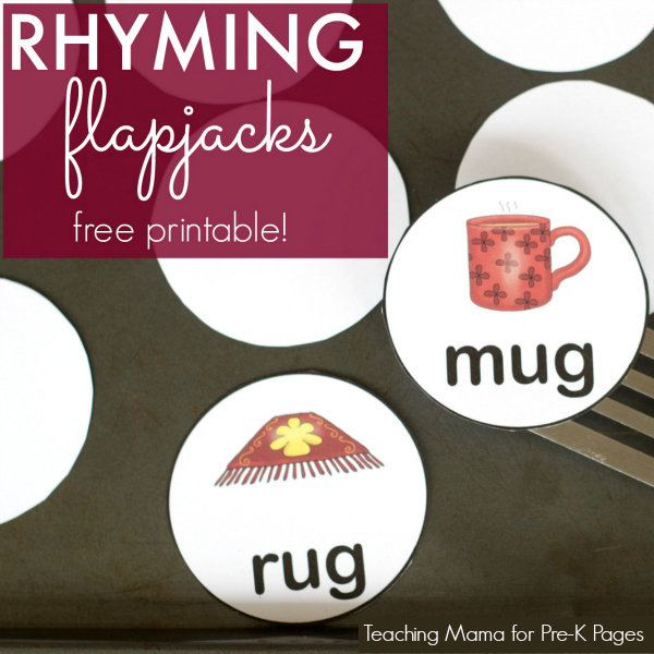 Rhyming activity for preschool