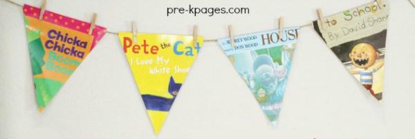 book banner repurposed covers