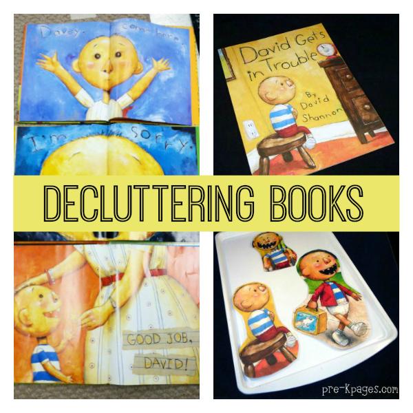 books pre-k organizing