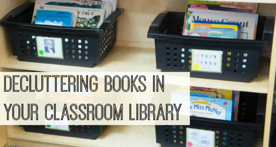 Decluttering Books in Your Classroom Library