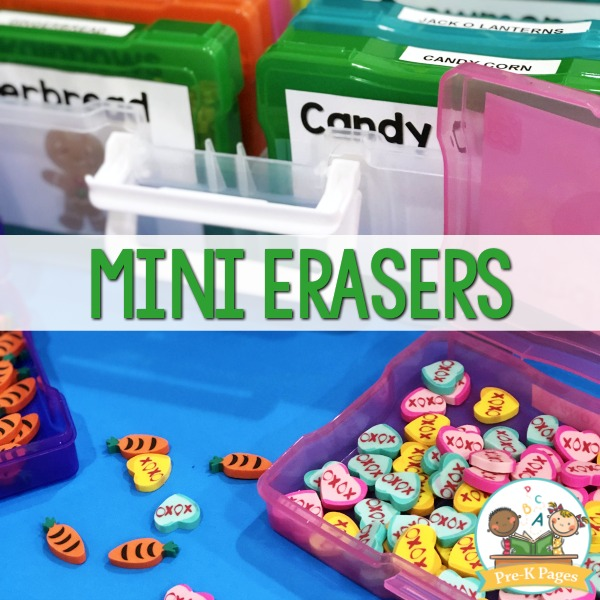 candy heart mini erasers for counting
