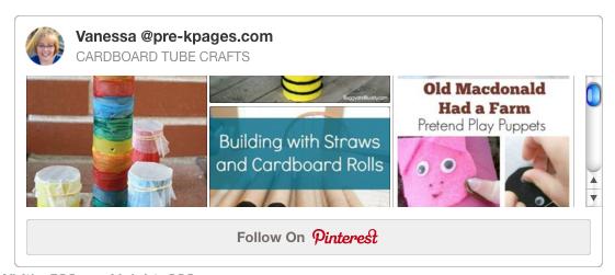 Cardboard Tubes Pinterest Board