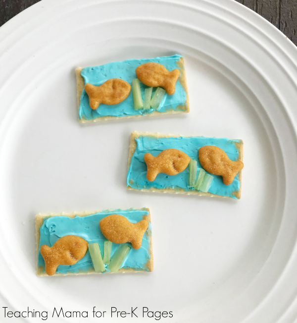 pond fish DIY snack kindergarten