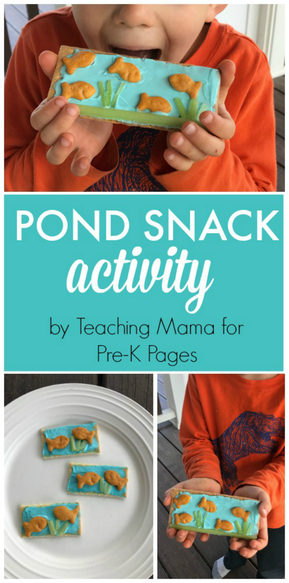 Pond Snack Activity for preschool