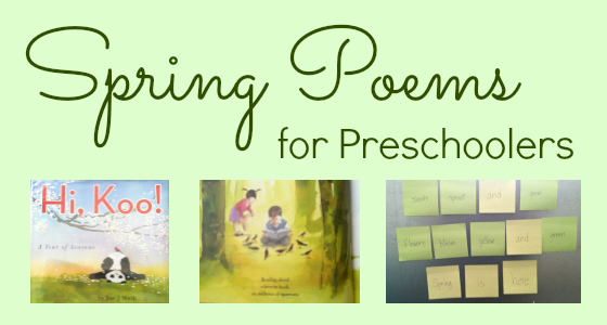 Spring Poems for Preschoolers